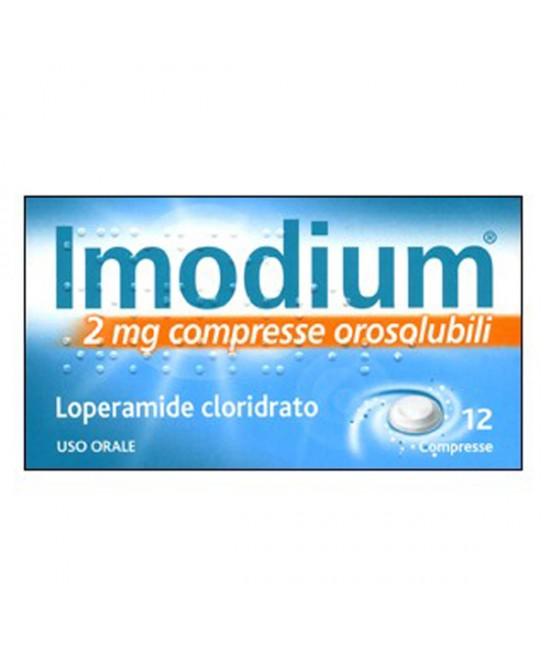 Imodium 2mg Trattamento Sintomatico Delle Diarree Acute 12 Compresse Orosolubili - Farmastar.it