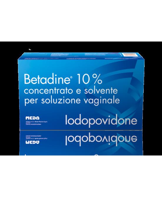 Meda Betadine 10% Concentrato E Solvente Per Soluzione Vaginale 5 Flaconi + 5 Fialette + 5 Cannule - Zfarmacia
