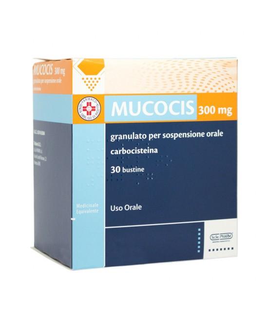 Mucocis Granulato 300 mg Carbocisteina Mucolitico 30 Bustine 5g offerta