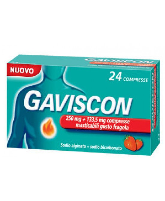 Gaviscon24Compresse Masticabili Fragola 250+133,5mg - Farmastar.it