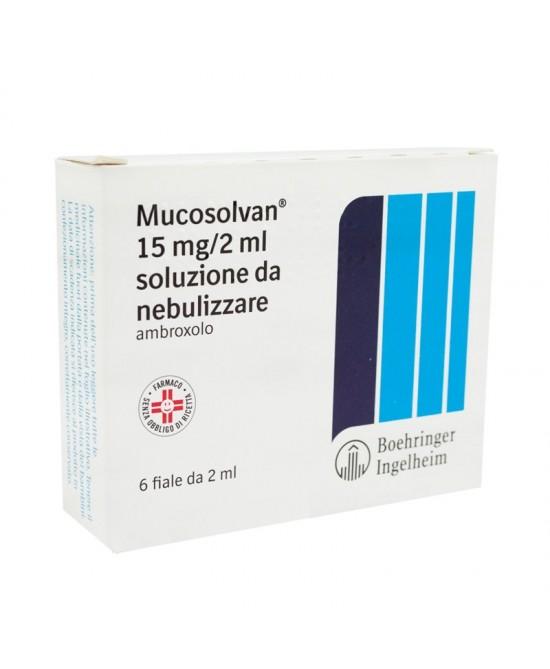 Mucosolvan 15 mg/2 ml Ambroxolo Soluzione da Nebulizzare 6 Fiale offerta