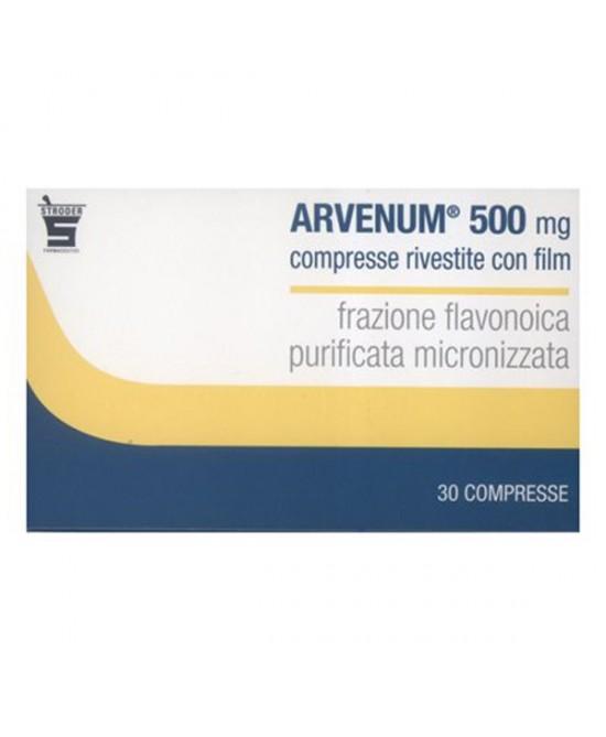 Stroder Arvenum 500mg Sintomi Attribuibili Ad Insufficienza Venosa Confezione 30 Compresse Rivestite - Farmaunclick.it