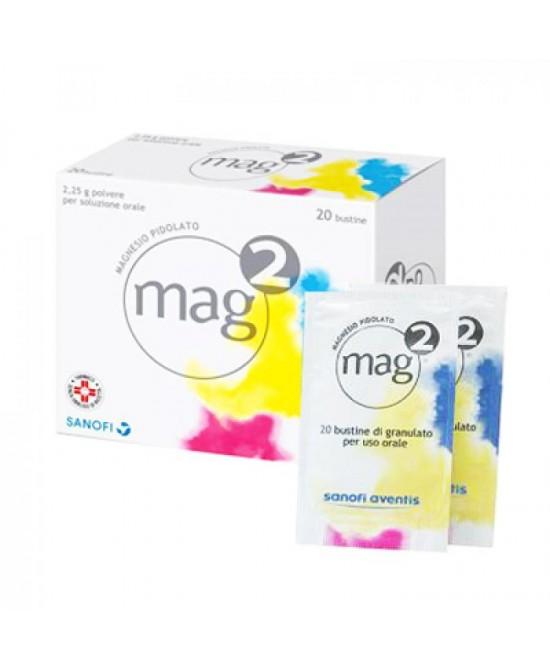 Mag2 Granulato Soluzione Orale 2,25g Magnesio Pidolato 20 Bustine offerta