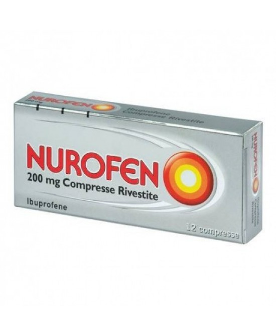 Nurofen  Ibuprofene 200mg 12 Compresse Rivestite - Farmacento