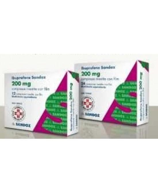 Ibuprofene Sandoz 200 mg Antidolorifico 24 Compresse Rivestite offerta