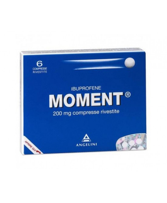 Moment 200mg  Ibuprofene 6 Compresse Rivestite - Zfarmacia