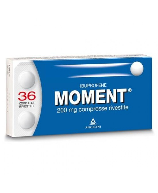Moment 200mg Angelini Ibuprofene 36 Compresse Rivestite - Farmawing