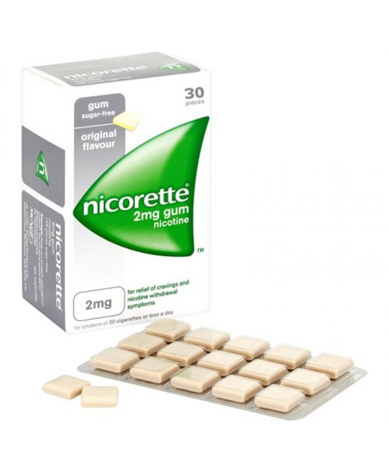 Nicorette 2mg  Original 30 Gomme Da Masticare - Farmastar.it