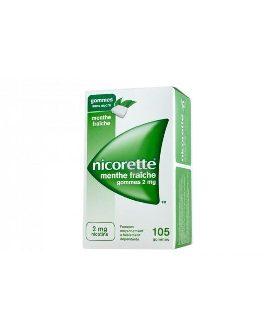 Nicorette Gomme 2 mg Nicotina Menta 105 Gomme Masticabili offerta