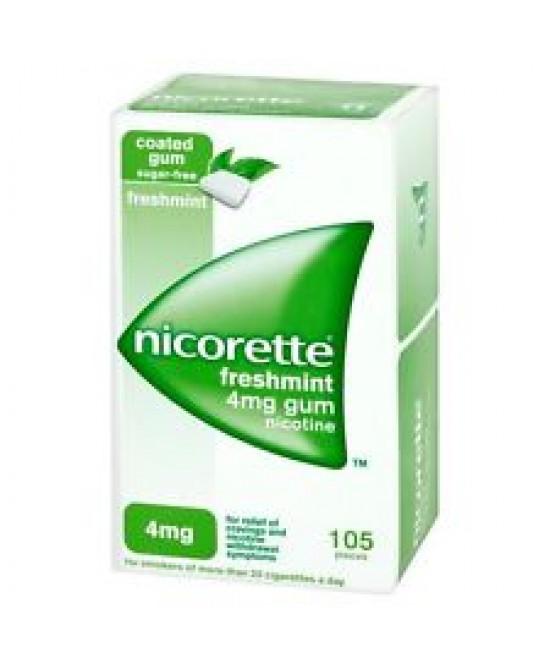 Nicorette 4mg  Menta 105 Gomme Da Masticare - latuafarmaciaonline.it