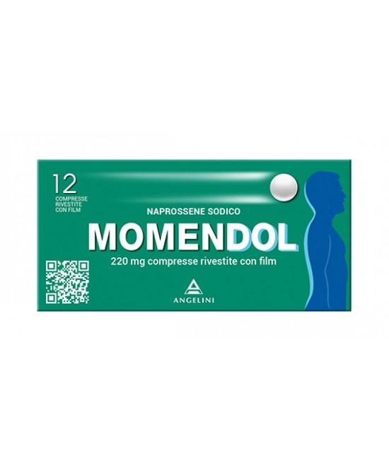 MomenDOL 220mg Naprossene Sodico 12 Compresse Rivestite - Farmastop