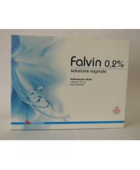 Falvin Soluzione Vaginale 0,2% Fenticonazolo 5 Flaconi 150 ml offerta