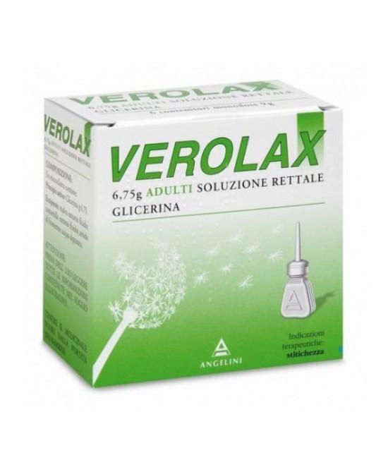 Verolax 6,75g Adulti Soluzione Rettale 6 Clismi - Farmacia 33
