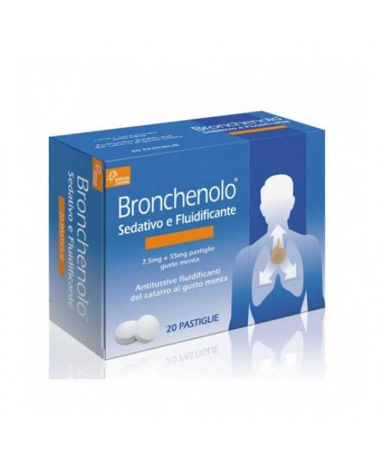 Bronchenolo Sedativo E Fluidificante Per Tosse E Catarro 20 Pastiglie Da Sciogliere - Farmastar.it