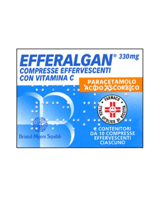 Efferalgan Paracetamolo 20 Compresse Effervescenti 330mg+200mg - Farmastar.it