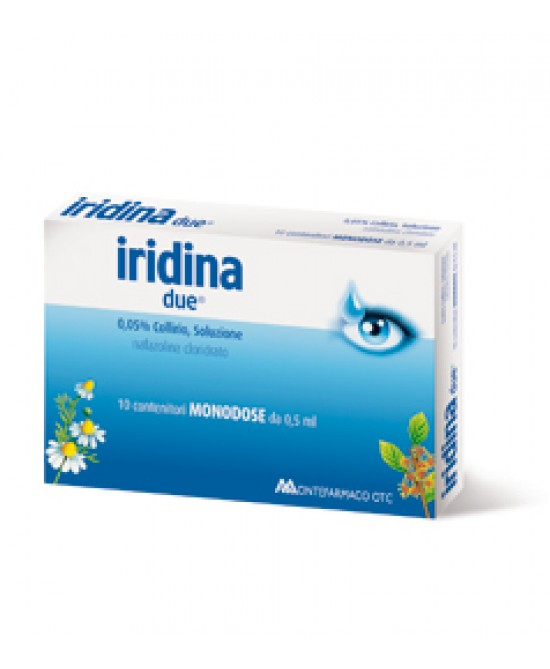 Montefarmaco Otc Iridina Due0,05% Collirio Per Occhi Irritati Ed Arrossati 10 Flaconcini 0,5ml - Spacefarma.it
