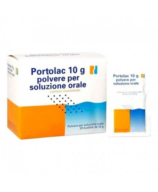 Portolac 10 g Polvere per Soluzione Orale 20 Bustine - Farmalilla
