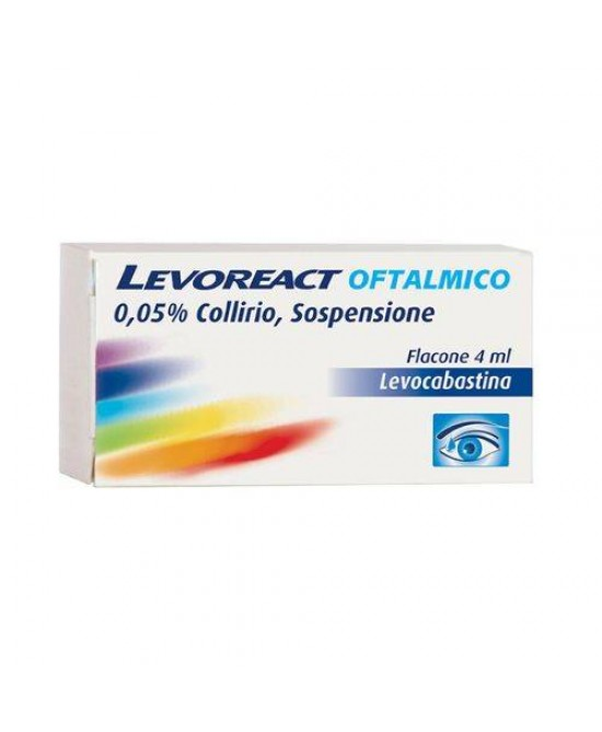 Levoreact Oftalmico 0,05% Collirio Per Occhi Allergici 4ml - Farmafamily.it