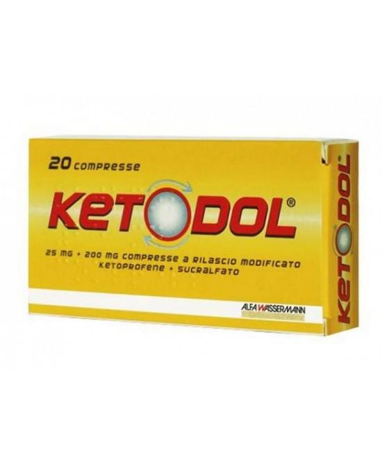 Ketodol 20 Compresse 25 mg + 200 mg - Farmalilla