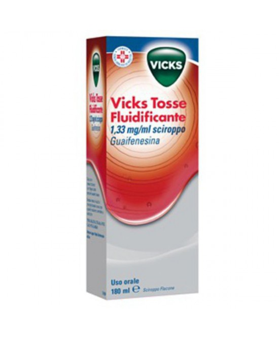 Vicks Tosse Fluidificante 1.33mg/ml Sciroppo 180ml - Farmafamily.it