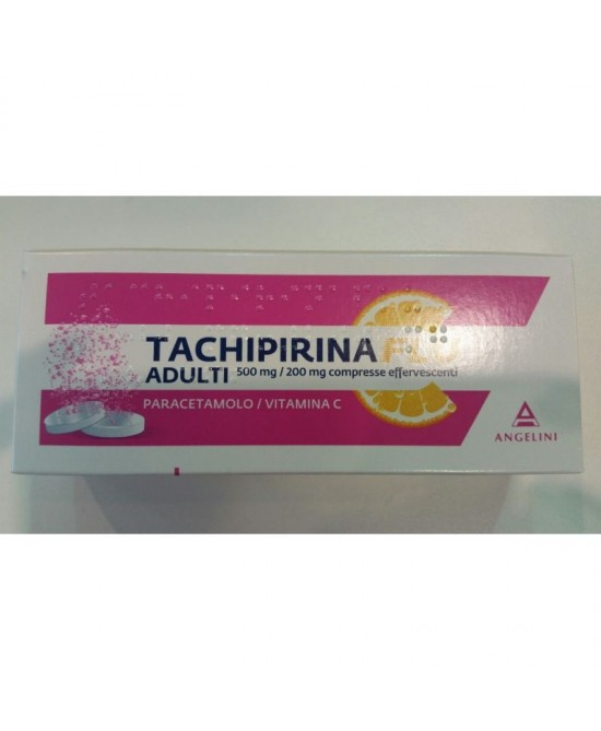 Angelini Tachipirinaflu 500mg+200mg 12 Compresse Effervescenti - Farmaciaempatica.it