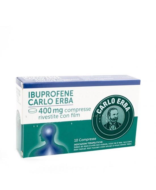 Ibuprofene 400mg Carlo Erba Antinfiammatorio Ed Antidolorifico 10 Compresse - Farmawing
