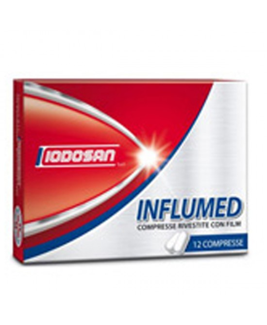 Iodosan Influmed Trattamento Sintomatico Influenza 12 Compresse Rivestite - Farmafamily.it