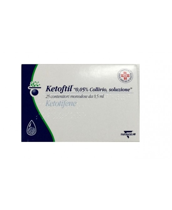 Ketoftil 0.05% Collirio 25 Monodose Da 0,5ml - Farmastar.it