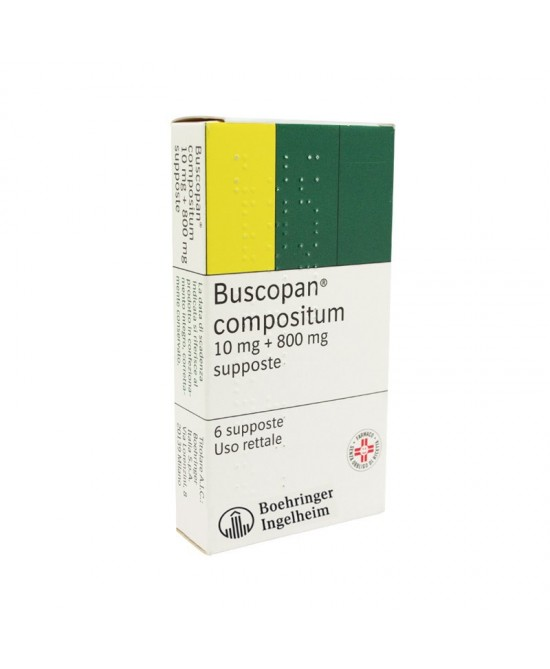 Buscopan Compositum 6 Supposte 10 mg + 800 mg - Farmastar.it