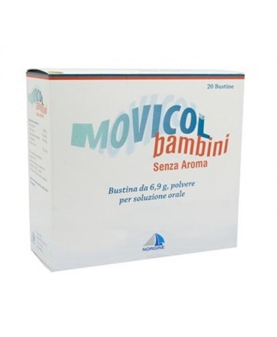 Movicol Bambini 6.9g Polvere Per Soluzione Orale Senza Aroma 20 Bustine - Farmastar.it
