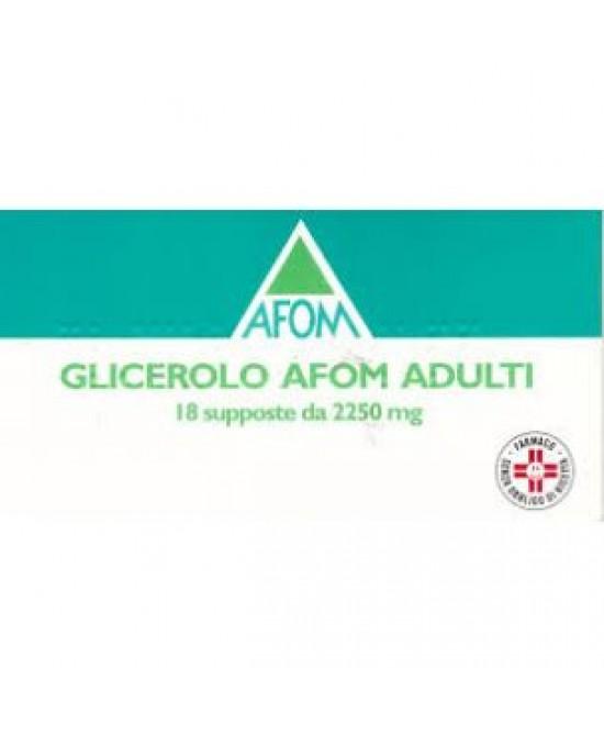 Glicerolo Afom Adulti 2250mg 18 Supposte offerta