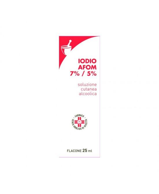 Iodio AFOM   7 % + 5 % Soluzione AlcoIica  25ml - Farmastop