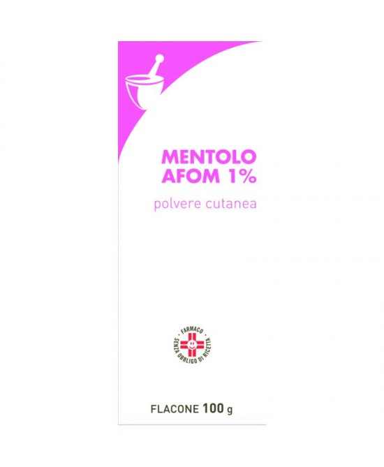 Mentolo AFOM 1% Polvere Cutanea 100g - Spacefarma.it