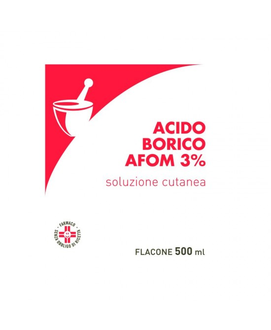 Acido Borico 3% Afom 500ml - FARMAEMPORIO
