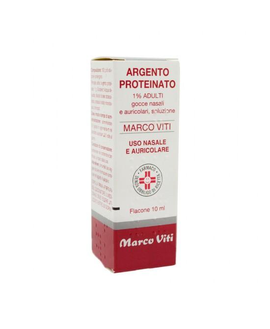Argento Proteinato Marco Viti1% Gocce Nasali E Auricolari 10ml - Farmacia 33