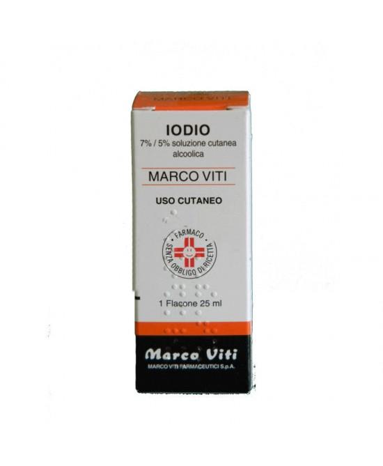 Iodio 7% +5% Soluzione Alcolica Cutanea 50ml - Parafarmacia la Fattoria della Salute S.n.c. di Delfini Dott.ssa Giulia e Marra Dott.ssa Michela