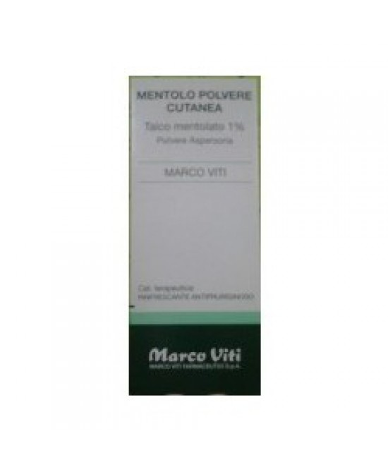 Mentolo Marco Viti 1% Polvere Cutanea 100g - Farmacia 33