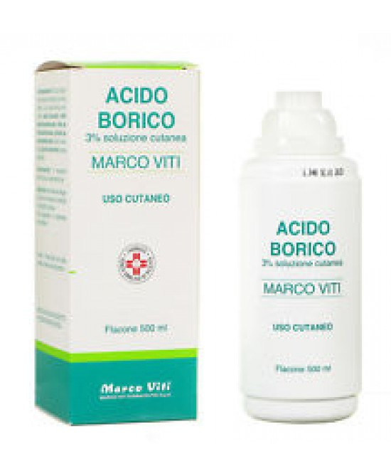 Acido Borico Marco Viti 3% Soluzione Cutanea 500ml - Farmafamily.it