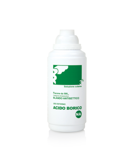 Acido Borico NA 3%  Soluzione Cutanea 500ml - Farmafamily.it