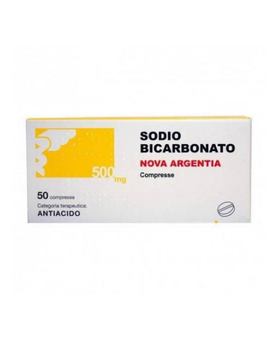 Nova Argentia Sodio Bicarbonato 500mg Per Acidità Di Stomaco 50 Compresse - Farmafamily.it