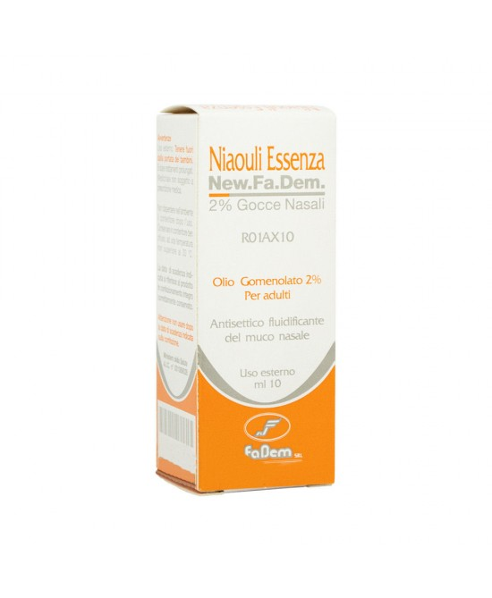 Niaouli Essenza NEW.FA.DEM. 2% Gocce Nasali 10ml - FARMAPRIME