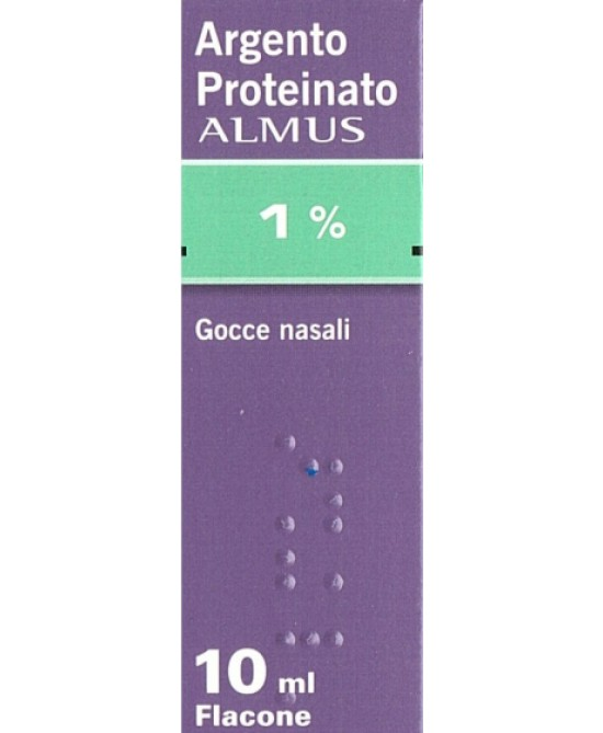 Argento Proteinato ALMUS 1% Gocce Nasali 10ml - Farmaciaempatica.it