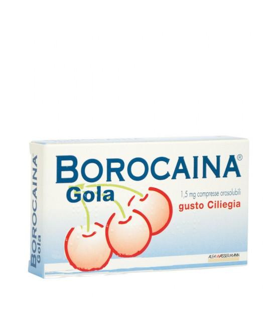 Borocaina Gola  Gusto Ciliegia 20 Compresse - Farmacia 33