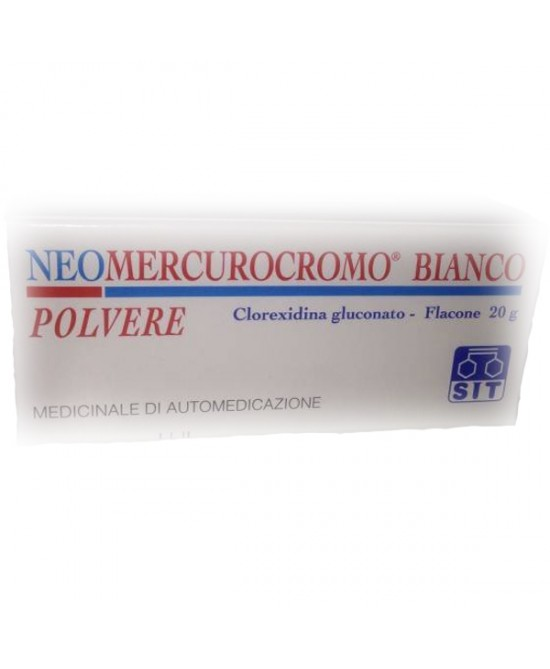 Neomercurocromo Bianco Polvere 5 mg/g Clorexidina gluconato Disinfettante 20 g offerta
