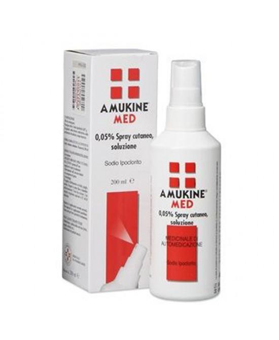Amuchina Amukine Med 0,05% Spray Cutaneo Disinfezione Della Cute Lesa Flacone 200ml - Farmia.it