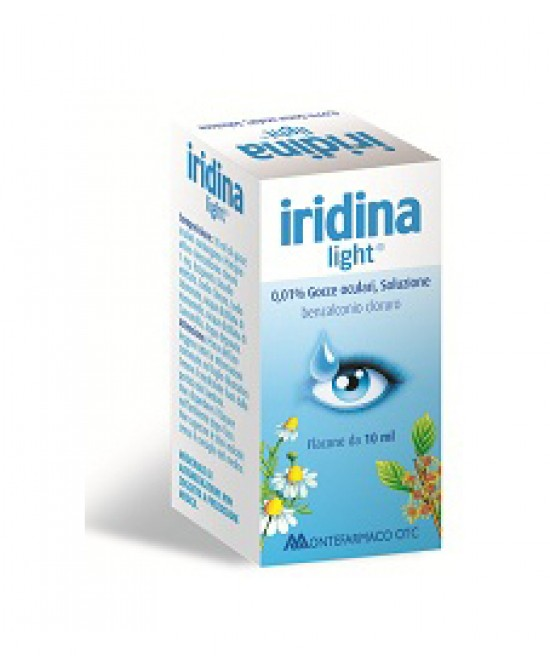 Montefarmaco OTC Iridina Light 0,01% Gocce Antimicrobico Flacone 10ml - Farmapage.it