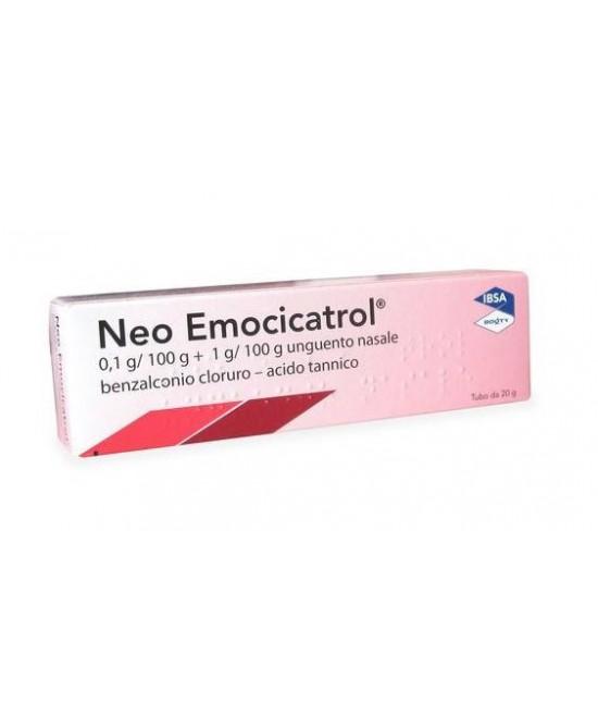 Neo Emocicatrol 0,1g/100g + 1g/100g Unguento Nasale 20g - Farmafamily.it