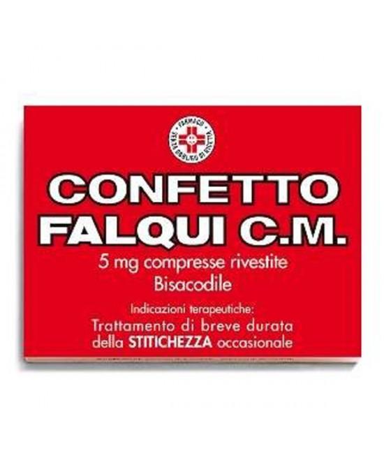 Confetto Falqui C.M. 5 mg Bisacodile Stitichezza 20 Compresse