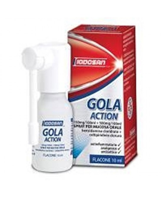 Iodosan Gola Action 0,15%+0,5% Spray Trattamento Antinfiammatorio Della Gola Flacone 10ml - Farmapage.it