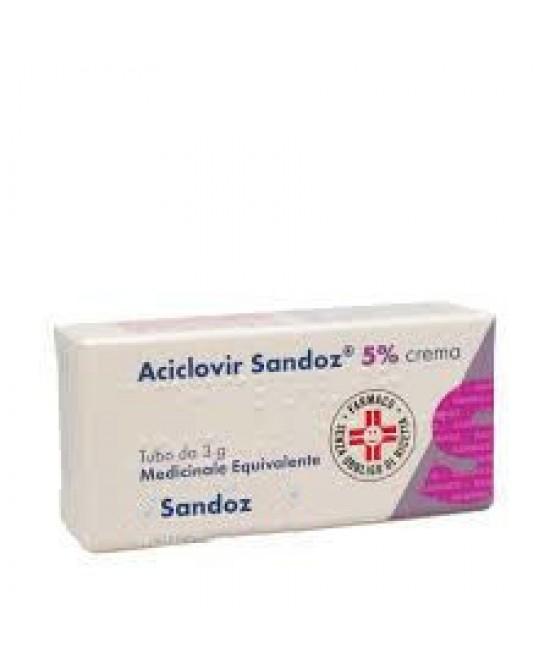 Aciclovir Sandoz 5% Crema Antivirale 3 g offerta